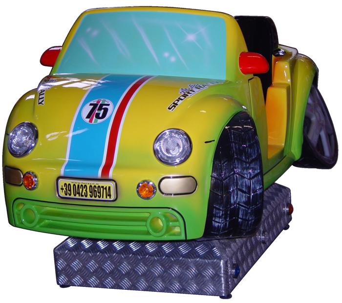 Een gele racebuggy voor kinderen | Amuse Kiddy Rides